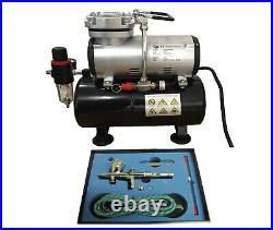 Tank Compressor Kit Airbrush 180k Kit Double Action With Hose Rdgtools