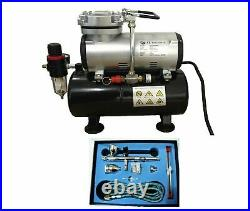 Tank Compressor Kit Airbrush 183k Kit Double Action With Hose Rdgtools