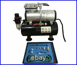 Tank Compressor Kit Airbrush 186k Kit Double Action With Hose Rdgtools
