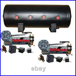 V DC100 Pewter Dual Air Compressors 5 Gal Air Tank Parts Press Switch