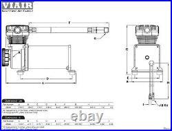 VIAIR 48032 480c Air Compressors Chrome Dual Pack Pair 200psi 100% Duty Kit