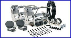 VIAIR Dual 380C Chrome Constant Duty Truck Mount Air Compressors Kit 200 PSI