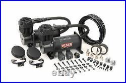 VIAIR Dual 380C Stealth Black Truck Mount Air Compressors Kit 12 Volt, 200 PSI