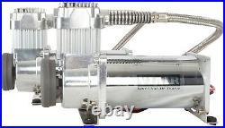 VIAIR Dual 400C Chrome Fast Fill Air Compressor Kit for Train Horns 150 PSI