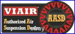 VIAIR Dual 444C Stealth Black Air Compressors Kit for Train Horns 12V, 200 PSI