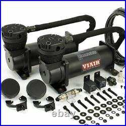 VIAIR Dual 480C 12-Volt 200-PSI Stealth Black Value Pack Air Compressor Kit