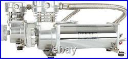 VIAIR Dual 480C Chrome Truck Mount Air Compressors Kit for Train Horns 200 PSI