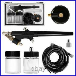 VIVOHOME Airbrush Compressor Kit Dual-Action Paint Spray Gun Air Brush DIY Craft
