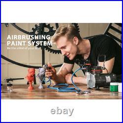 VIVOHOME Dual-Action Paint Spray Air Brush Tattoo Nail 3 Airbrush Compressor Kit