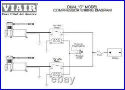 Viair 380C PEWTER Dual Pack Compressor Kit 200 PSI Air Bag Ride Train Horns