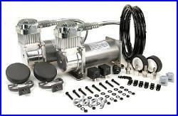 Viair 380C PEWTER Dual Pack Compressor Kit 200 PSI Air Ride 38002