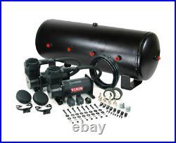 Viair 400C Black Dual Air Compressor With 7 Gallon 8 3/8 Port Air Tank Air Ride