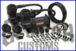Viair 400C Black Dual Pack Compressors Air Bag Ride Suspension Custom Lowrider