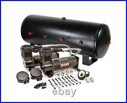 Viair 444C Black Dual Air Compressor With 7 Gallon 8 3/8 Port Steel Air Tank