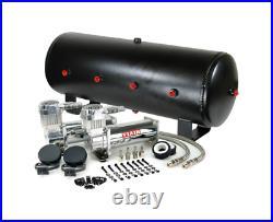 Viair 444C Chrome Dual Air Compressor With 7 Gallon 8 3/8 Port Steel Air Tank