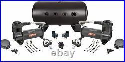 Viair 444C Dual Black Air Compressors 5 gal Tank Air Ride Combo kit