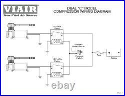 Viair 444C Dual Pack Compressors Air Ride Suspension Black Train Horn Lowrider