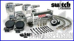 Viair 444c Chrome Air Compressors Dual Pack 200 PSI with 18 Seamless Tank 6 Dia