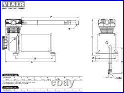 Viair 480 Dual Pack Compressors CHROME Air Bag Suspension Off Road Lowrider