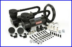 Viair 48042 BLACK 480C Dual Air Compressor Pack with Pressure Switch & Relays