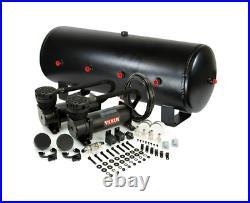 Viair 480C Black Dual Air Compressor With 7 Gallon 8 3/8 Port Steel Air Tank