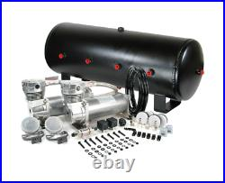 Viair 480C Pewter Dual Air Compressor With 7 Gallon 8 3/8 Port Steel Air Tank