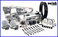 Viair 480c Dual Chrome Compressor Kit For Air Ride Suspension / Train Horn