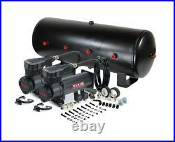 Viair 485C Black Dual Air Compressor W 7 Gallon 8 3/8 Port Steel Air Tank