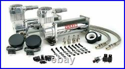 Viair Dual Chrome 444C 200 PSI Max Air Compressor Kit FREE Relays and PSI switch